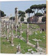Rome Ruins Wood Print