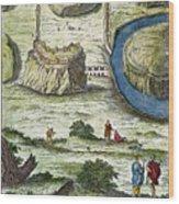 Rome: Seven Hills, 18th C Wood Print