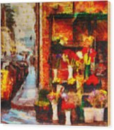 Rome Street Colors Wood Print by Stefano Senise