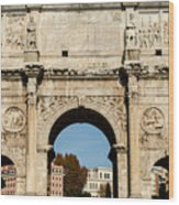 Rome - The Arch Of Constantine 3 Wood Print