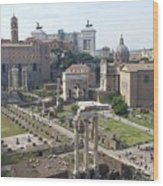 Rome The Old New World Wood Print