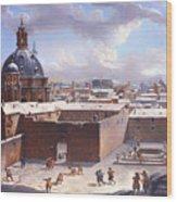 Rome Under The Snow Wood Print
