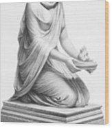 Rome: Vestal Virgin Wood Print