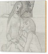 Romeo And Juliet, With Friar Lawrence Wood Print
