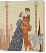 Romeo And Juliette Wood Print