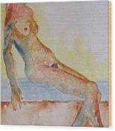 Romy - Seated Wood Print