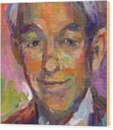 Ron Paul Art Impressionistic Painting  Wood Print