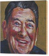 Ronald Reagan Wood Print by Buffalo Bonker