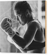 Ronda Rousey Fighter Wood Print