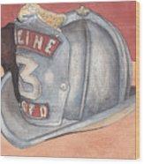 Rondo's Fire Helmet Wood Print by Ken Powers