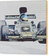 Ronnie Peterson - Lotus 76 Wood Print