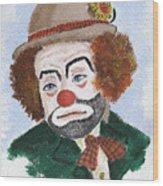 Ronnie The Clown Wood Print