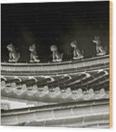 Roof National Palace Museum Taiwan City - Taipei  Wood Print