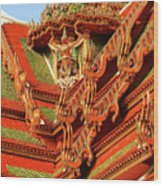 Roof Of Buddhist Temple In Thailand Wood Print