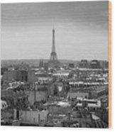 Roof Of Paris. France Wood Print by Bernard Jaubert