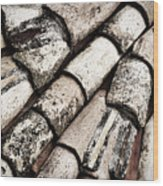 Roof Tile Abstract Wood Print