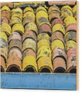 Roof Tile Wood Print