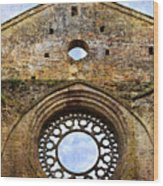 Roofless Church Abbazia Di San Galgano Wood Print