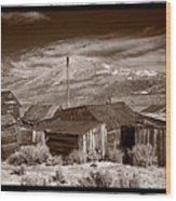 Rooflines Bodie Ghost Town Wood Print