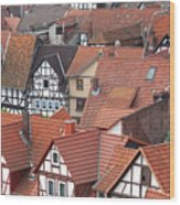 Roofs Of Bad Sooden-allendorf Wood Print