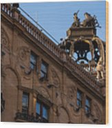 Rooftop Chariots And Horses - The Hippodrome Casino Leicester Square London U K Wood Print