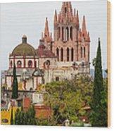 Rooftop View Of La Parroquia De San Miguel Arcangel Wood Print by Rob Huntley