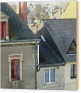 Rooftops, Chateaubriant Wood Print