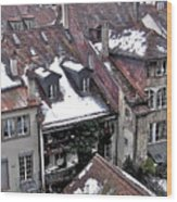 Rooftops Of Berne II Wood Print