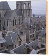 Rooftops Of Blois In France 2 Wood Print