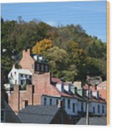 Rooftops Of Harpers Ferry Wood Print