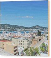 Rooftops Of Ibiza 4 Wood Print