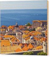 Rooftops Of Old Town Dubrovnik Wood Print
