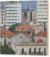 Rooftops Of Old Town Havana Wood Print