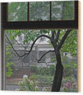 Room With A Rainy View Wood Print