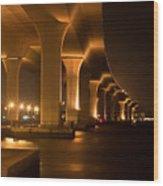 Roosevelt Bridge At Night Wood Print