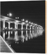 Roosevelt Bridge, Stuart Fl Wood Print