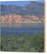 Roosevelt Lake - Panoramic Wood Print