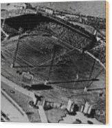 Vintage - Roosevelt Stadium Wood Print