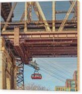 Roosevelt Tram Underneath The 59 St Bridge Wood Print