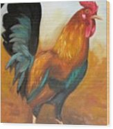 Rooster 4 Wood Print