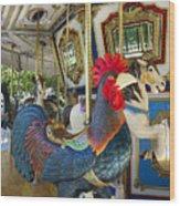 Rooster Coop Kids Ride Wood Print