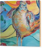 Rooster Crows -- Joy Arising Wood Print