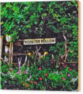Rooster Hollow Wood Print