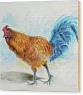 Rooster Watercolor Wood Print