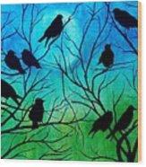 Roosting Birds Wood Print