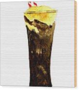 Root Beer Float Wood Print