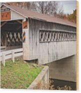 Root Rd Covered Bridge  Wood Print