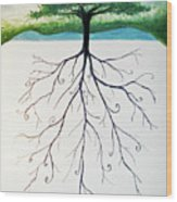 Roots Of A Tree Wood Print