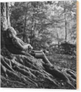 Roots Of Contemplation Wood Print