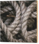 Rope Abstract Wood Print